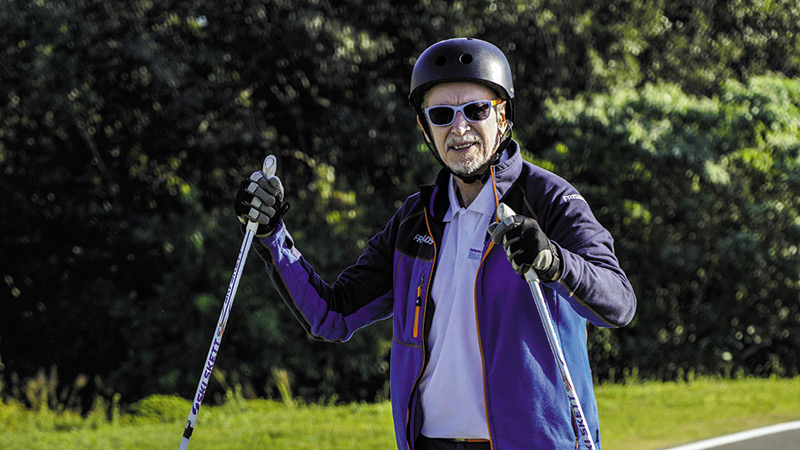 Roller Skiing: A Cool Winter Activity